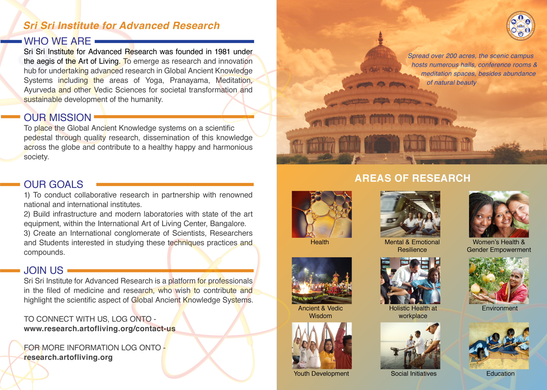 Sri Sri Institute for Advanced Research Brochure 2