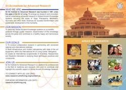 Sri Sri Institute for Advanced Research Brochure 2