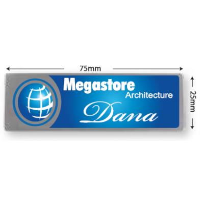 Stainless Steel Name Tag - Metal Pin