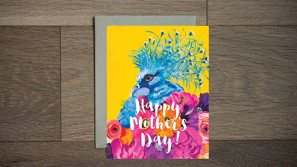Beautiful bird Mother's Day greeting card