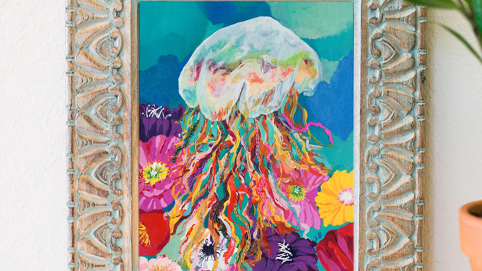 Beautiful jellyfish fine art print