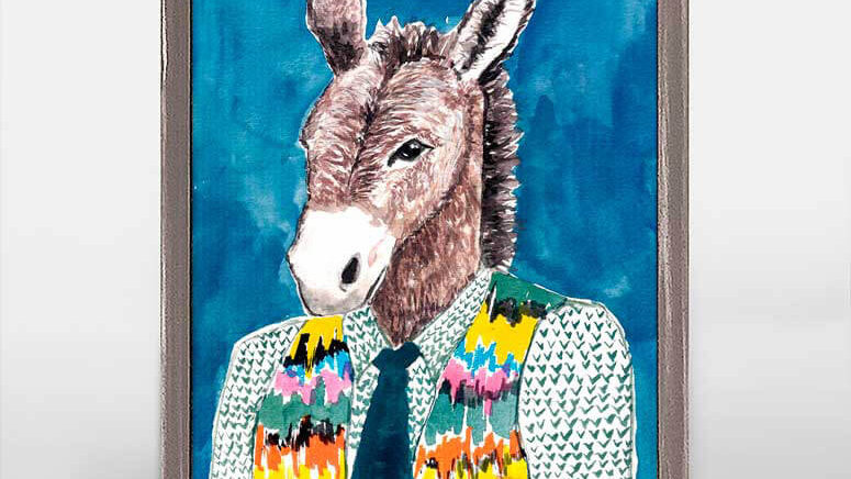 Mr. Donkey Mini Framed Print