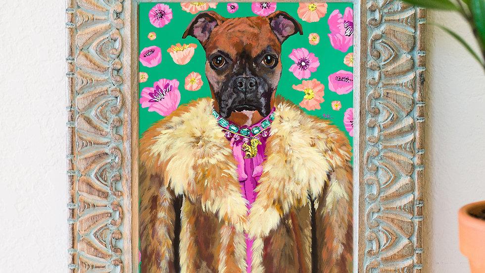 Fabulous boxer art print
