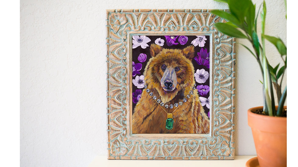 Beautiful mama bear fine art print