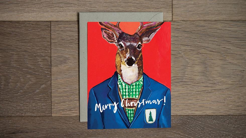 Dapper Christmas buck Greeting Card