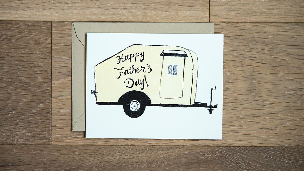 Camping Father's Day greeting card