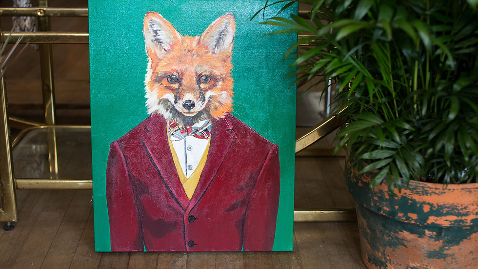 Sir Fox original painting SOLD