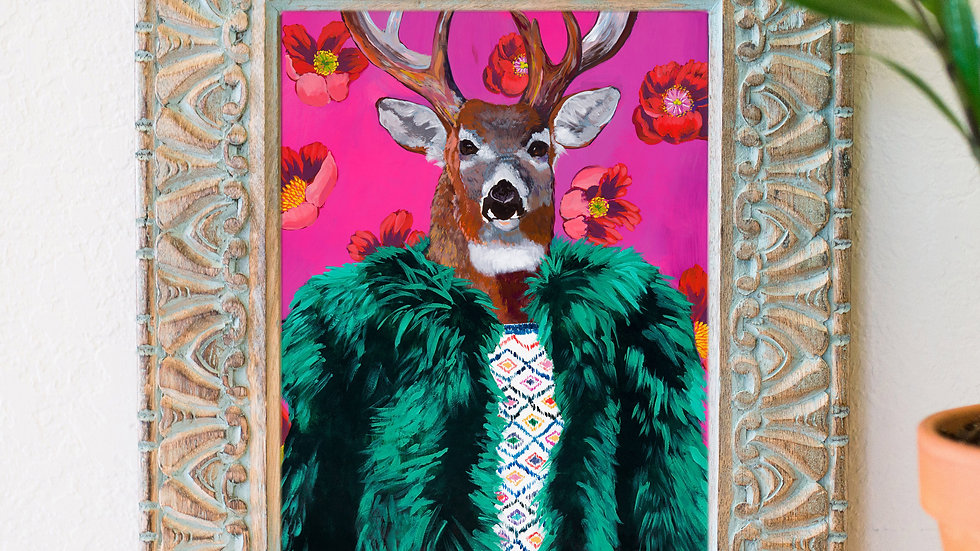 Mr. Fancy buck fine art print