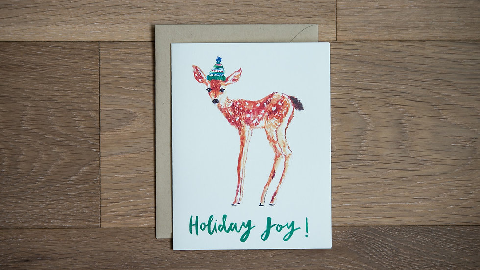 Reindeer holiday greeting card