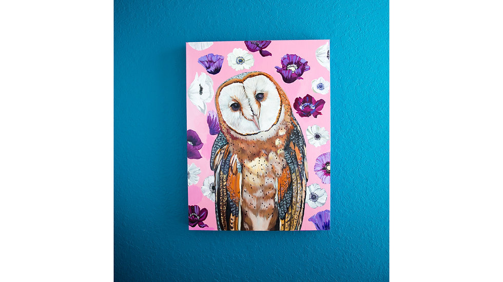 Beautiful Barn Owl Original Painting