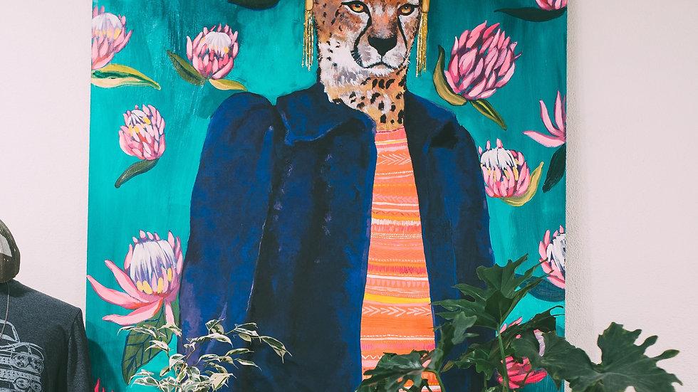 Cheetah queen painting