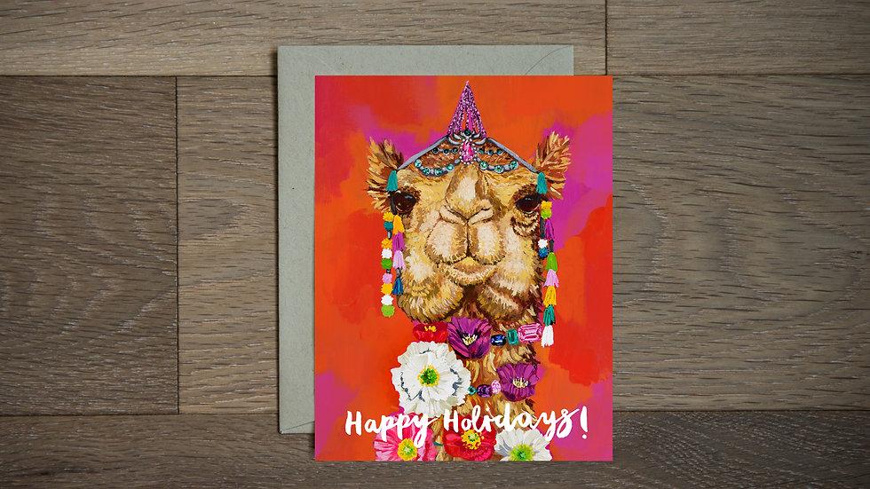 Camel holiday greeting card