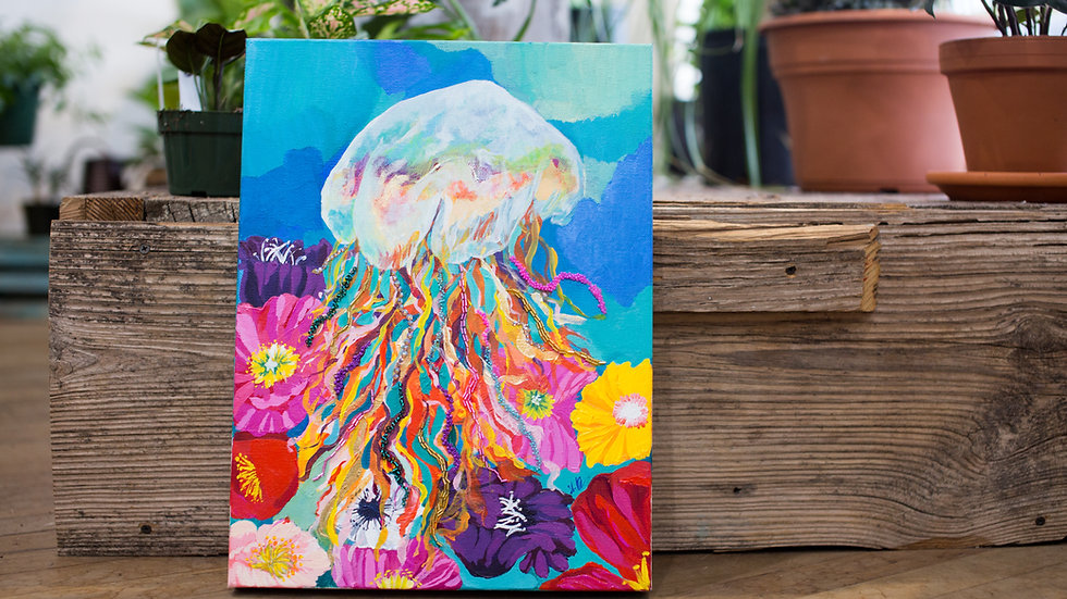 Jellyfish queen painting