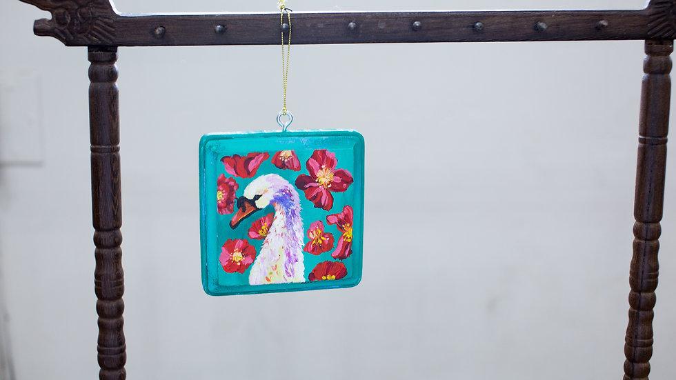 Boho Swan Ornament