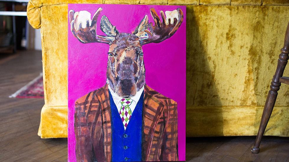 Sir Moose Painting SOLD