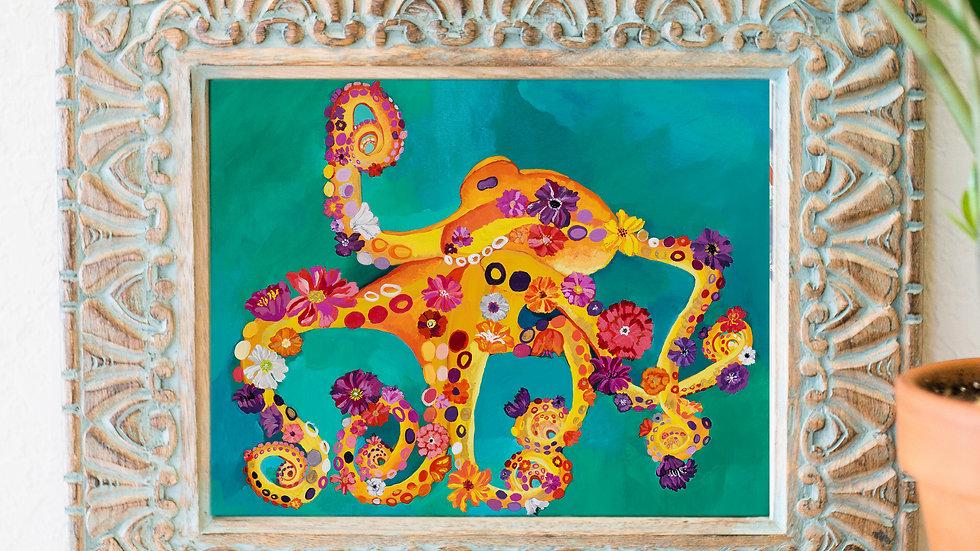 Flora Octopus fine art print