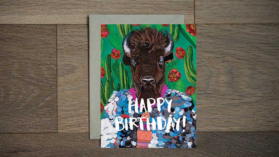 Fancy buffalo greeting card