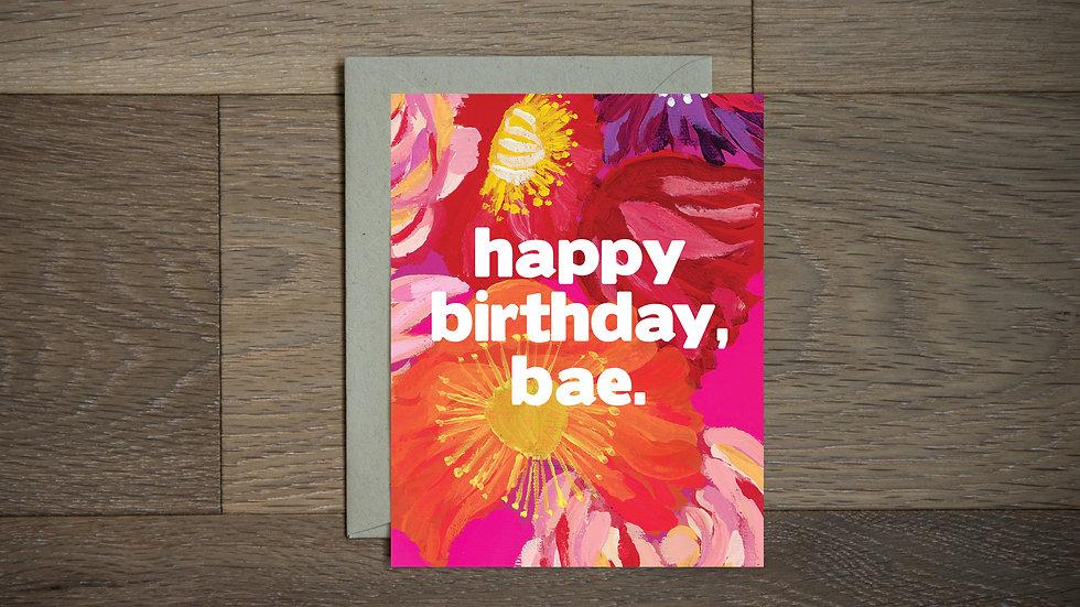 Birthday bae greeting card