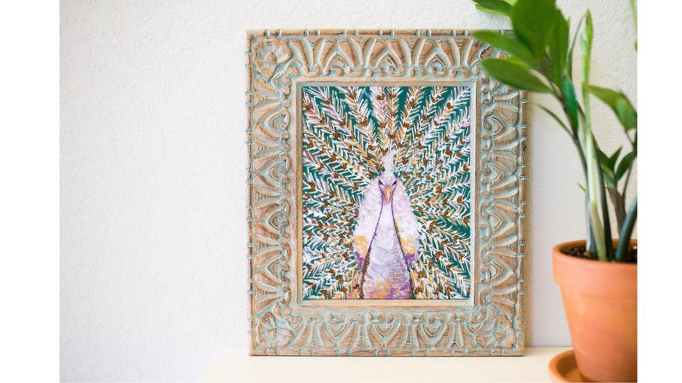 White peacock fine art print