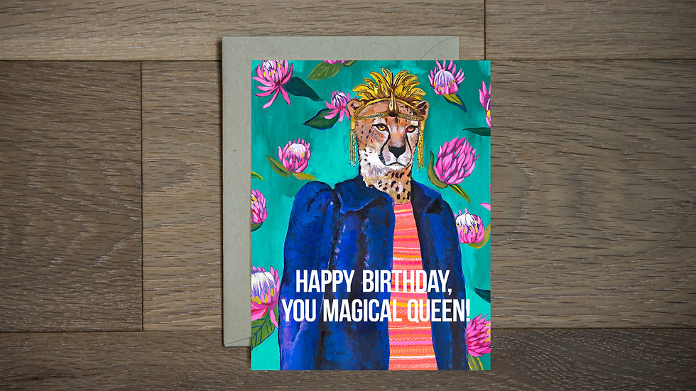 Fabulous Queen greeting card