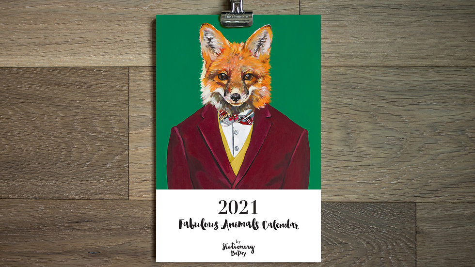 2021 Fancy animals calendar