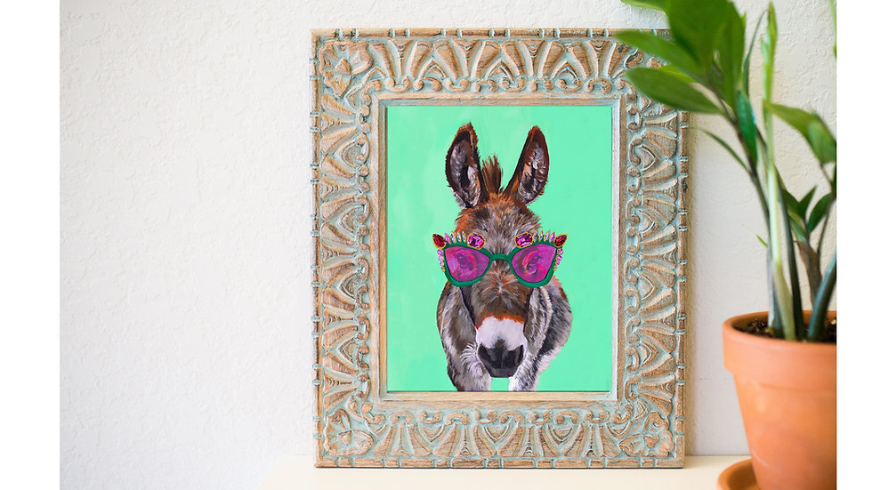 Donkey queen fine art print