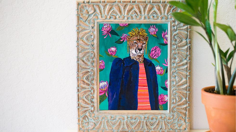 Fancy cheetah fine art print