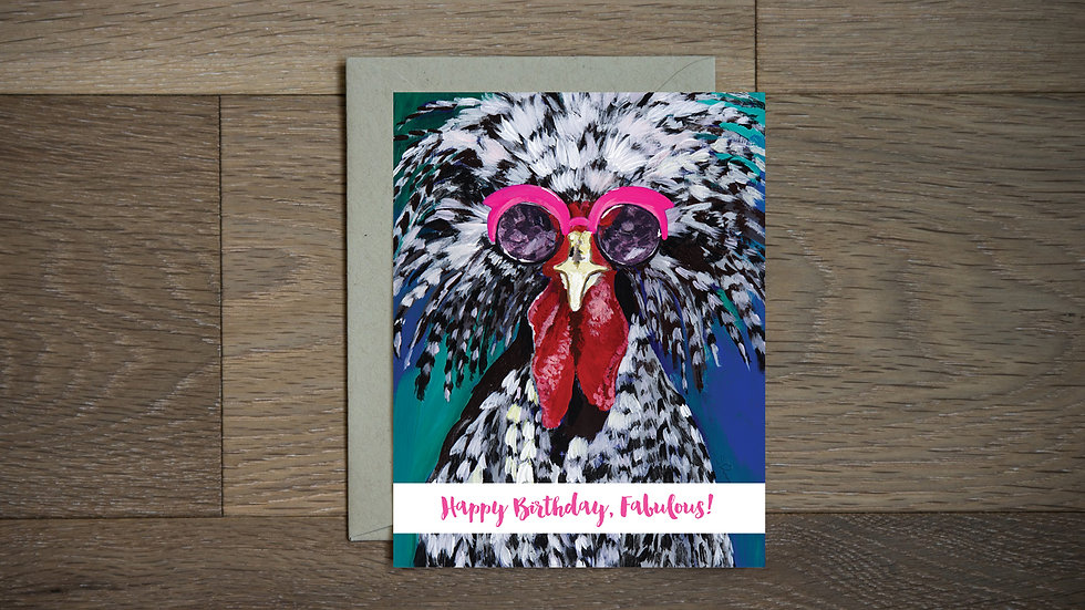 Happy Birthday Fabulous Chicken card