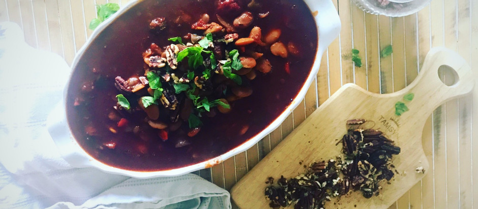 Red wine, smoked paprika & butterbean S.L.O.W cooked stew