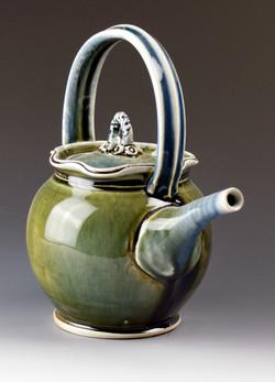Blue Green Teapot 11x8x6