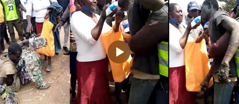 This Sad!!! Mother  finds her university son m@d on the street [Watch Video ]