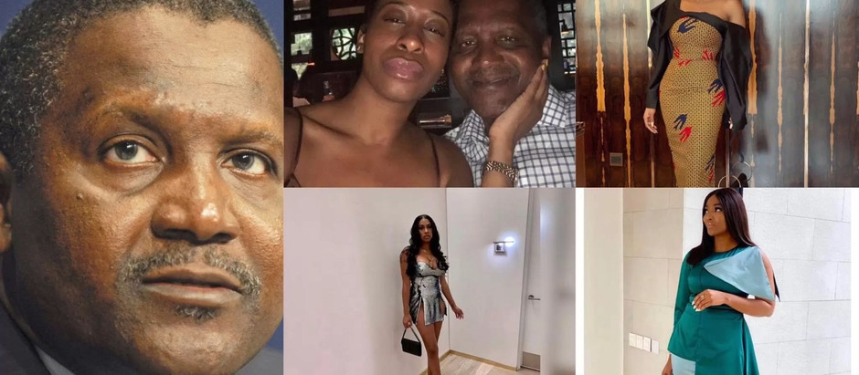 Guy exposes Aliko Dangote as he drops all photos of his side-chics