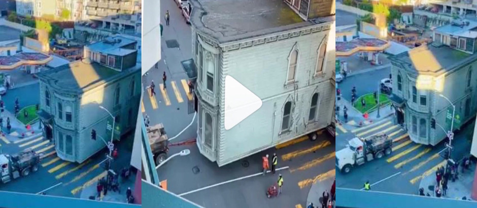 Woow!!! 139-year-old house is lift3d  and m0ved to new location in the U.S. [Watch Video]