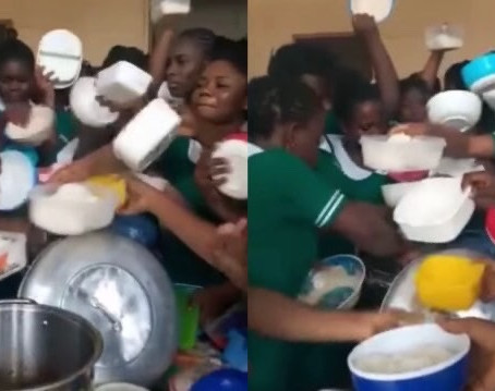 "Ghanaian Trainee Nurses ""F!ght!ng"" Over Their Lunch Surface Online [Watch Video]"