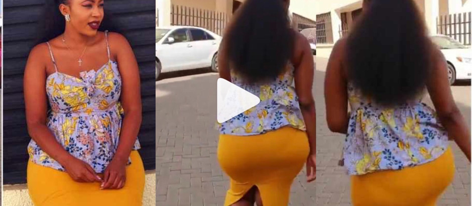 Upro@r as Sl@y Queen uses her b!g Nyash to woo people to church [Watch Video ]