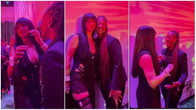 'Oh my God' – Rihanna screams in excitement as she meets Nigerian singer Tems [video]