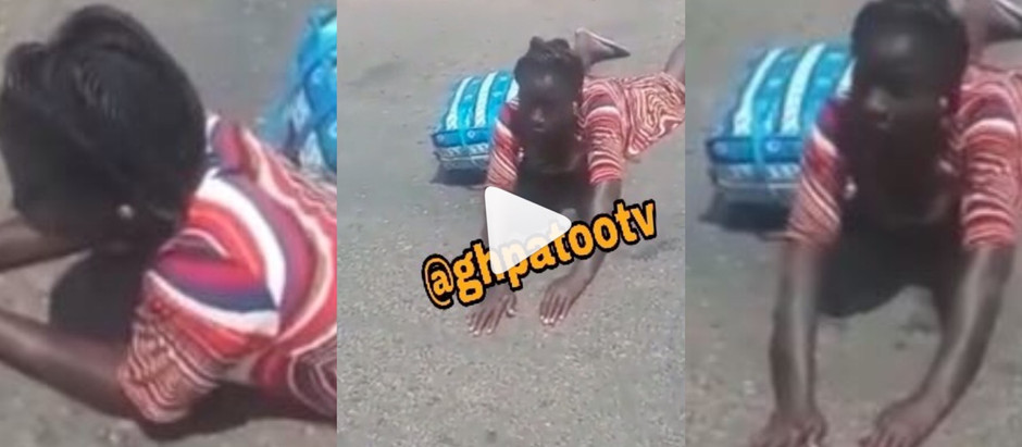 Woman Captured Lying Down In The Middle Of A Road Because Of This Reason [Video]