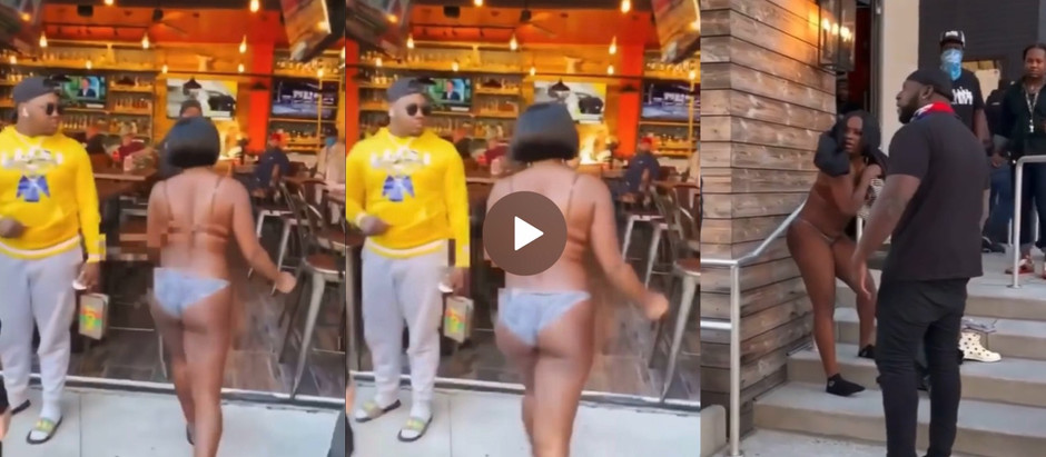 Video of Man Takes The Dr3ss He Bought For Girlfriend In Publ!c After He C@ught Her With Another Guy