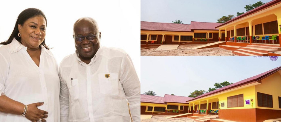 Rebecca Akufo-Addo re-builds Adetim D/A KG & Primary School in Eastern Region