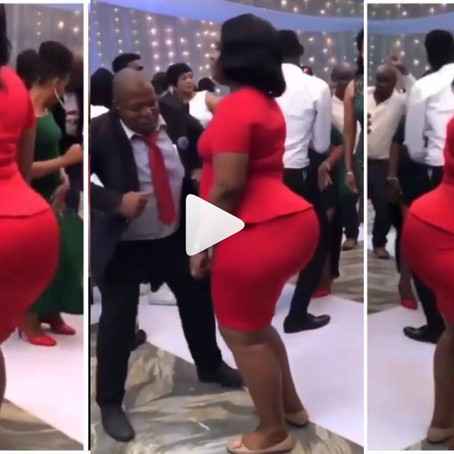 Woman with gargantuan derri3re causes massive commoti0n as she dance at a party [Watch Video]