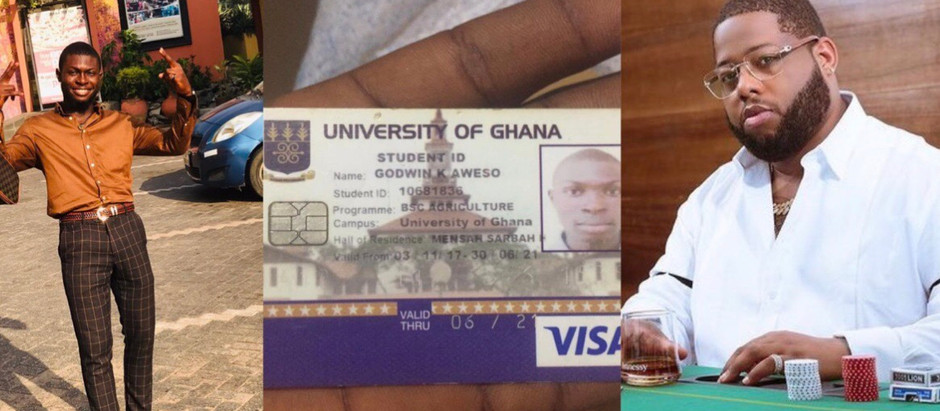 Rapper D'Black pays fees for needy but brilliant Legon student