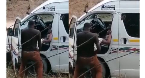 Driver Caught Having S3x With A Lady By The Road Side[Watch Video]