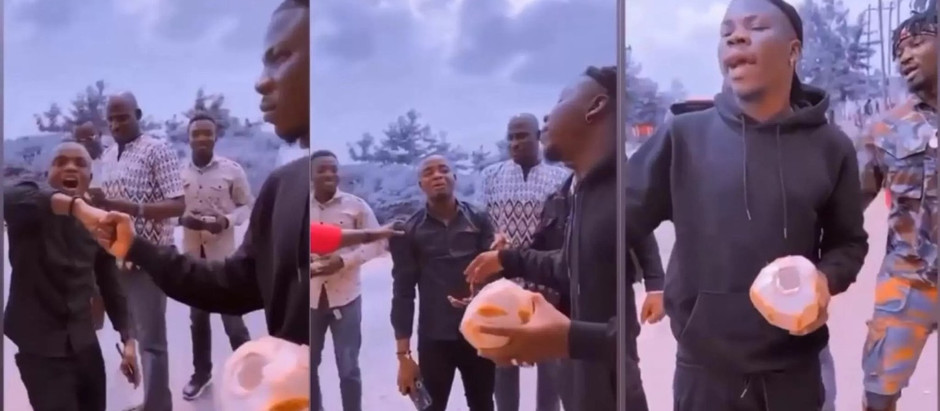 Stonebwoy disgraces a fan who was screaming his name in Town [VIDEO]