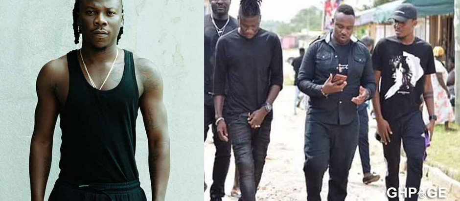Stonebwoy reacts after getting involved in the fatal accident which had his bodyguards arrested for