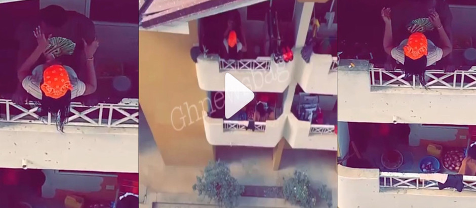 A Viral Video Of  Two KNUST students c@ught on camera ch0pp!ng l0ve at balcony [Watch Now]