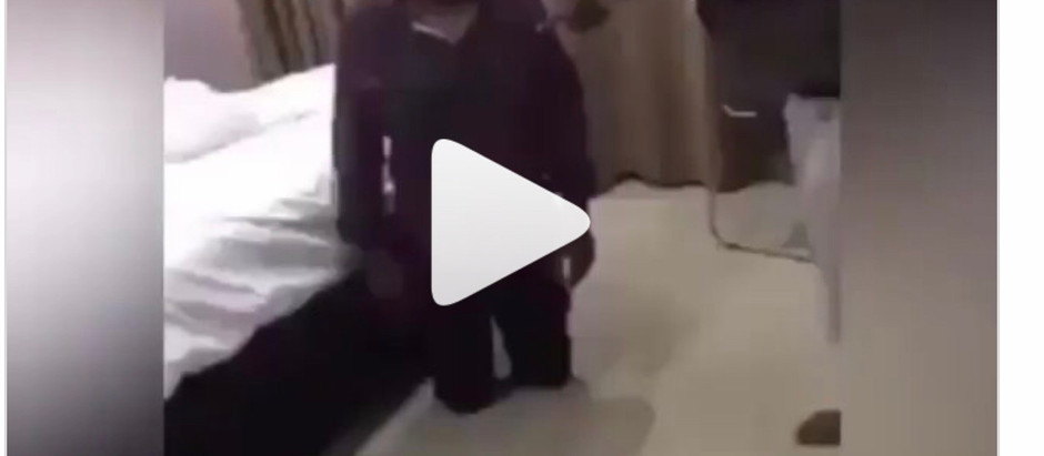 A M@n c@ught h3r wif3 p@nts d0wn with another m@n in a hot3l trend on Social media [VIDEO]