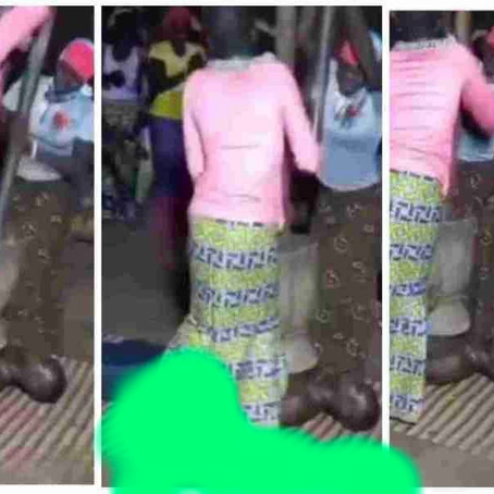Shocking as man is being pounded like fufu by strong women for purification [Video]