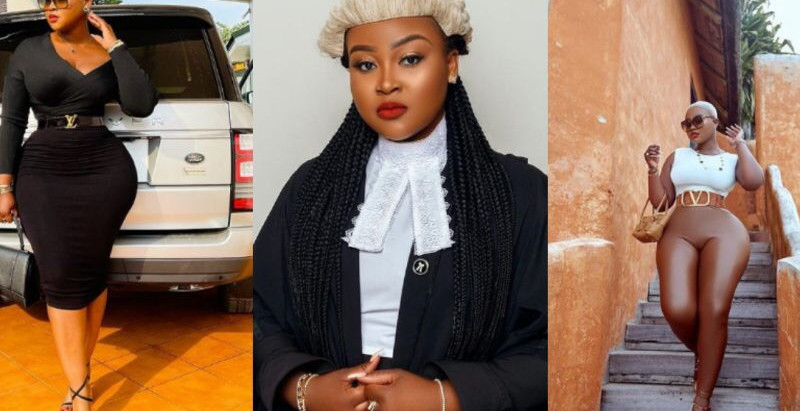 Forget Sandra Ankobia, Meet the beautiful Ghanaian Lawyer causing massive confusion with her curvace