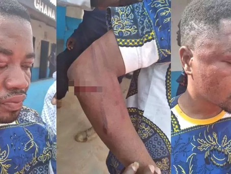 NPP's Asare Kofi Israel given 40 strokes of canes at Drobo palace for insulting the Queen mother