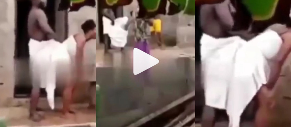 A Video Of a Che@ting Man Got Stu*ck In An Unsafe S.3x Position goes viral on social media [Watch]